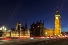 Londen Big Ben en Huizen van het Parlement Stock Afbeeldingen