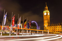 Londen bij nacht Stock Foto's