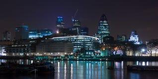 Londen bij nacht Royalty-vrije Stock Foto's