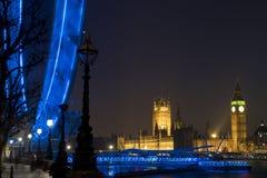 Londen bij Nacht Stock Afbeeldingen