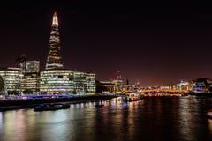 Londen bij nacht Royalty-vrije Stock Afbeeldingen