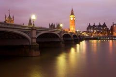 Londen bij nacht Stock Fotografie
