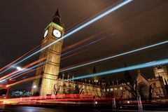 Londen bij Nacht stock afbeelding