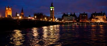 Londen bij nacht Stock Foto