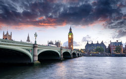 Londen bij Schemer royalty-vrije stock fotografie