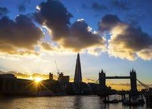 Londen bij schemer Royalty-vrije Stock Foto's