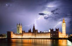 Londen bij strom Stock Foto's