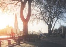 Londen bij zonsondergang Royalty-vrije Stock Foto's
