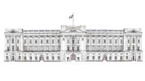 Londen Buckingham Palace Beroemde gebouwen van de bedrijfsachtergrond van Londen, van de Reis en stock illustratie