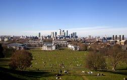 LONDEN, CANARY WHARF HET UK Stock Foto's