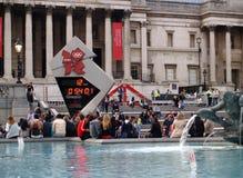Londen dat Olympische spelen wacht royalty-vrije stock foto's