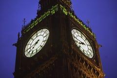 Londen de Big Ben bij schemer Royalty-vrije Stock Foto