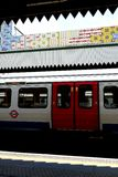 Londen: De buispost v van de Edgwareweg Royalty-vrije Stock Foto