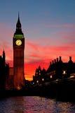 Londen. De klokketoren van de Big Ben. Stock Afbeelding