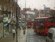 Londen in de Regen Stock Fotografie