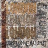 Londen die Grunge-Achtergrond roepen stock foto's