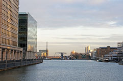 Londen Docklands Stock Afbeeldingen