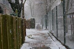 Londen door sneeuw wordt behandeld die Stock Afbeelding