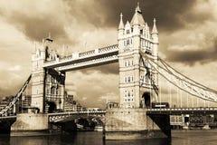 Londen door wijnoogst. Stock Fotografie