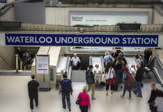Londen, 5, elfde, Waterloo van 2015 Ondergrondse Post Royalty-vrije Stock Foto's