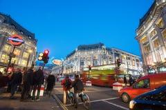 """LONDEN, ENGELAND € """"30 DECEMBER, 2014: De straat van Oxford op verkoopoverzees Royalty-vrije Stock Foto"""