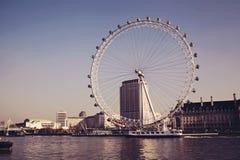 LONDEN, ENGELAND - januari 31: Het Oog van Londen op 31 januari 2011 Stock Afbeeldingen