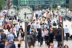 LONDEN, ENGELAND - JULI 10, 2015: Canary Wharf is busi van Londen Royalty-vrije Stock Afbeelding