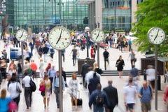 LONDEN, ENGELAND - JULI 10, 2015: Canary Wharf is busi van Londen Royalty-vrije Stock Foto's