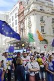 Londen, Engeland 23 juni 2018 Het protest maart van de mensen` s Stem Stock Afbeeldingen