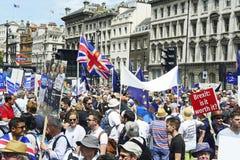 Londen, Engeland 23 juni 2018 Het protest maart van de mensen` s Stem royalty-vrije stock afbeelding