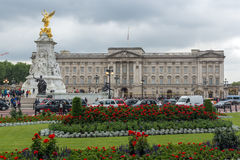 LONDEN, ENGELAND - JUNI 17 2016: Panorama van Buckingham Palace Londen, Groot-Brittannië Royalty-vrije Stock Afbeelding