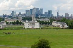 LONDEN, ENGELAND - JUNI 17 2016: Verbazend Panorama van Greenwich, Londen, het Verenigd Koninkrijk Stock Foto