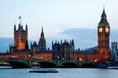 Londen Engeland van de Big Ben Westminster Royalty-vrije Stock Afbeelding