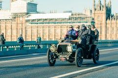 05/11/2017 Londen, het UK, Londen aan Brighton Veteran Cars Run Stock Foto