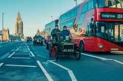 05/11/2017 Londen, het UK, Londen aan Brighton Veteran Cars Run Royalty-vrije Stock Afbeeldingen