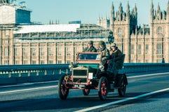 05/11/2017 Londen, het UK, Londen aan Brighton Veteran Cars Run Royalty-vrije Stock Fotografie