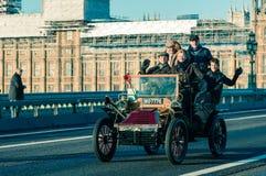 05/11/2017 Londen, het UK, Londen aan Brighton Veteran Cars Run Royalty-vrije Stock Foto's