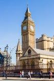 LONDEN, het UK - 14 April, 2015: De klokketoren verticaal Londen van Big Ben, Royalty-vrije Stock Afbeeldingen