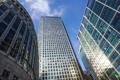 Londen, het UK - 6 April 2017: HSBC-bankhk in de stad van Londen HSBC is één van grootste kleinhandels en de investering van UKs royalty-vrije stock foto's