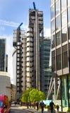 LONDEN, HET UK - 24 APRIL, 2014: Stad van Londen één van de belangrijke centra van globale financiën, hoofdkwartier voor belangri Stock Foto's
