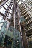 LONDEN, HET UK - 24 APRIL, 2014: Stad van Londen één van de belangrijke centra van globale financiën, hoofdkwartier voor belangri Royalty-vrije Stock Foto's