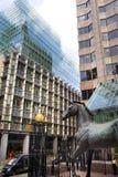 LONDEN, HET UK - 24 APRIL, 2014: Stad van Londen één van de belangrijke centra van globale financiën, hoofdkwartier voor belangri Stock Fotografie