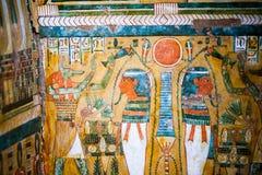 29 07 2015, LONDEN, het UK, BRITISH MUSEUM - Egyptische doodskisten Royalty-vrije Stock Afbeeldingen