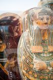 29 07 2015, LONDEN, het UK, BRITISH MUSEUM - Egyptische doodskisten Stock Afbeelding