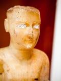 - LONDEN, het UK, BRITISH MUSEUM Gesneden standbeelden van Oud Zuid-Arabië Royalty-vrije Stock Foto