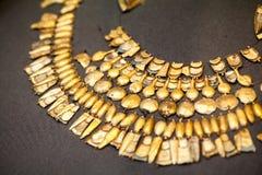 LONDEN, HET UK, BRITISH MUSEUM Griekse juwelen van bronstijd 3200-1100 van Grrek V.CHR. Royalty-vrije Stock Foto's