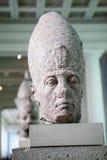 LONDEN, het UK, BRITISH MUSEUM, Hoofd van koning Senwosret III 1874 - 1855 V.CHR. stock afbeeldingen
