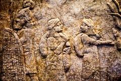 29 07 2015, LONDEN, het UK, BRITISH MUSEUM - Hulp die Babylonian-gevangenen tonen Royalty-vrije Stock Afbeeldingen