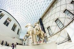 29 07 2015, LONDEN, het UK - British Museum-mening en details Stock Afbeelding