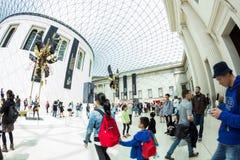 29 07 2015, LONDEN, het UK - British Museum-mening en details Royalty-vrije Stock Afbeelding